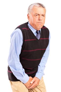 senior man with bladder control problem